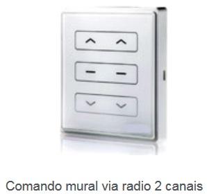 Comando mural via radio 2 canais